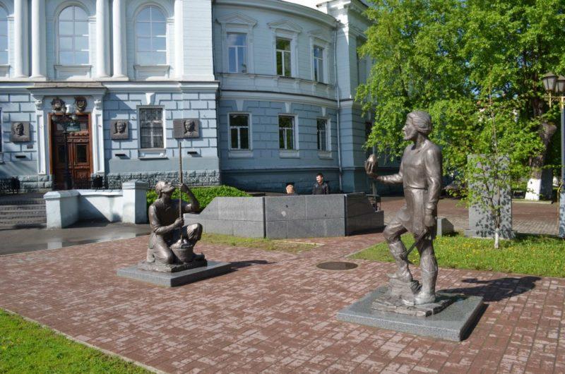 Памятник рудознатцу Федору Еремееву и рудокопу